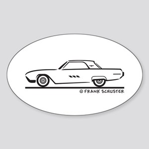 1963 Ford Thunderbird Hard Top Sticker (Oval)