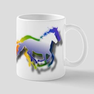 3D Running Horses Mug