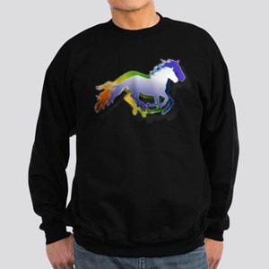 3D Running Horses Sweatshirt (dark)