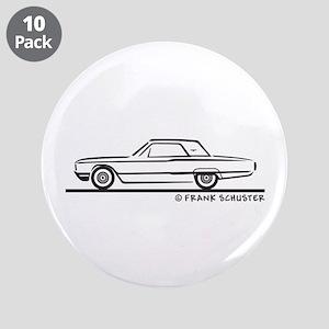 "1964 Ford Thunderbird Hard Top 3.5"" Button (10 pac"