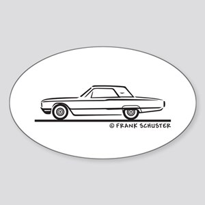 1964 Ford Thunderbird Hard Top Sticker (Oval)