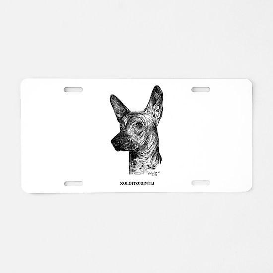 Xoloitzcuintli Aluminum License Plate