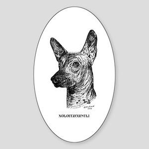 Xoloitzcuintli Sticker (Oval)