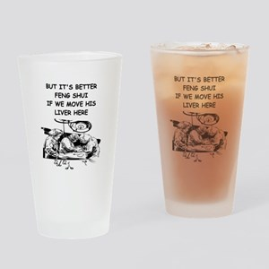 a funny doctor joke Pint Glass