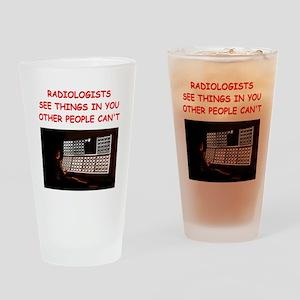 radiology radiologist joke Pint Glass
