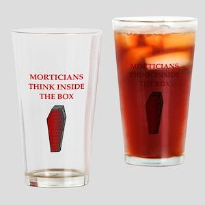 mortician undertaker Pint Glass