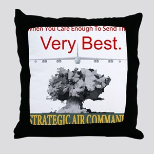 B-52 Strategic Air Command Throw Pillow