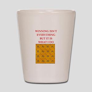funny mahjong Shot Glass