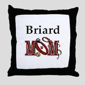 Briard Mom Throw Pillow