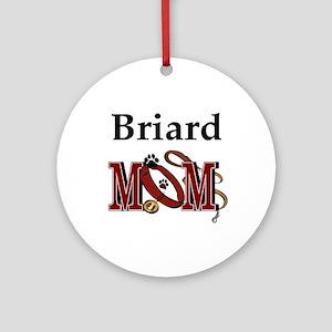 Briard Mom Ornament (Round)