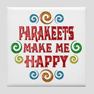 Parakeet Happiness Tile Coaster