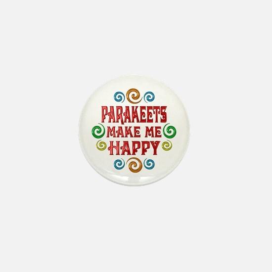 Parakeet Happiness Mini Button