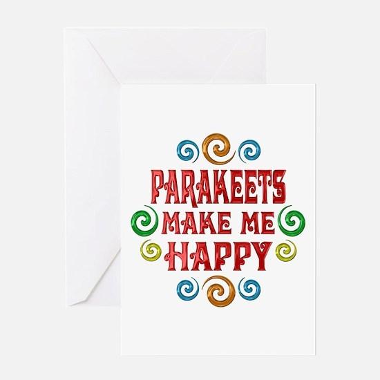 Parakeet Happiness Greeting Card