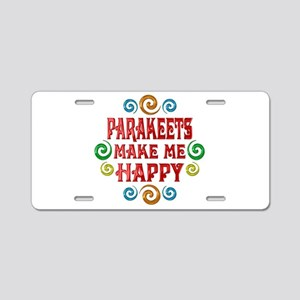 Parakeet Happiness Aluminum License Plate