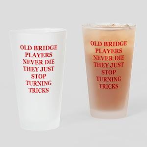 bridge player Pint Glass