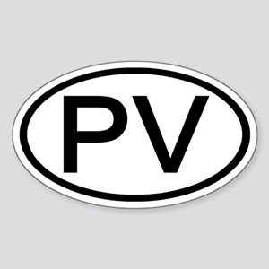 PV - Initial Oval Oval Sticker