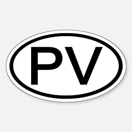 PV - Initial Oval Oval Decal