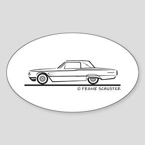 1965 Ford Thunderbird Landau Sticker (Oval)