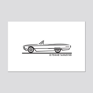 1966 Ford Thunderbird Convertible Mini Poster Prin