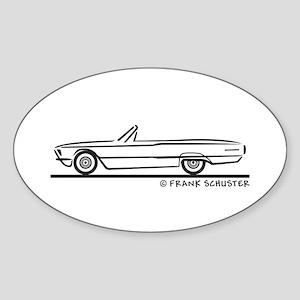 1966 Ford Thunderbird Convertible Sticker (Oval)