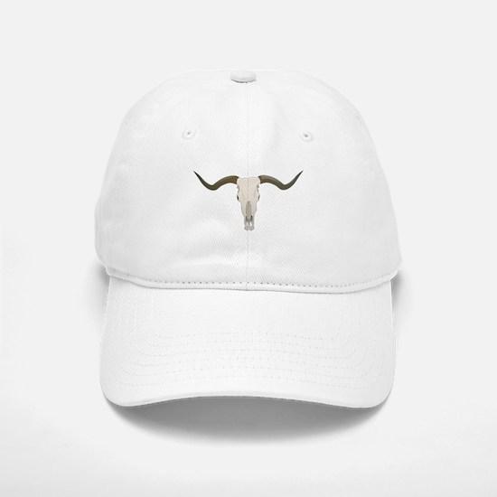 Longhorn Skull Symbol Baseball Baseball Cap