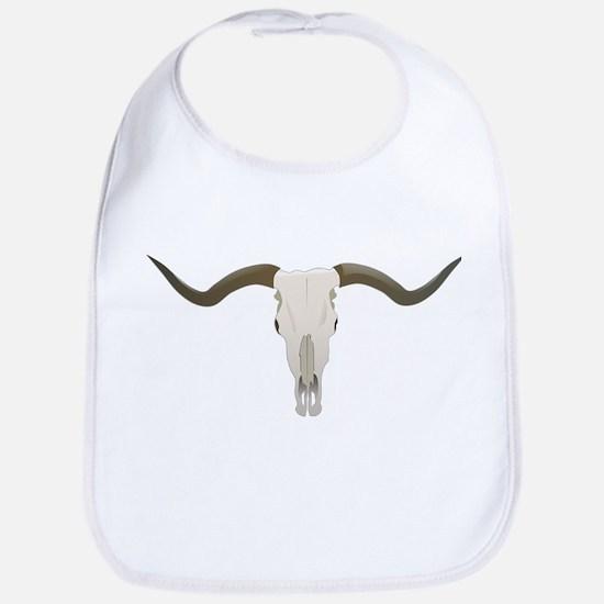 Longhorn Skull Symbol Bib
