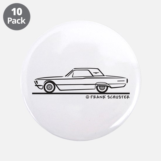 "1966 Ford Thunderbird Hard Top 3.5"" Button (10 pac"
