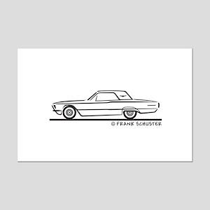 1966 Ford Thunderbird Hard Top Mini Poster Print