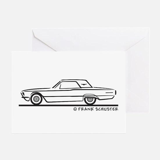 1966 Ford Thunderbird Hard Top Greeting Card