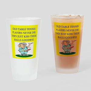 table tennis Pint Glass