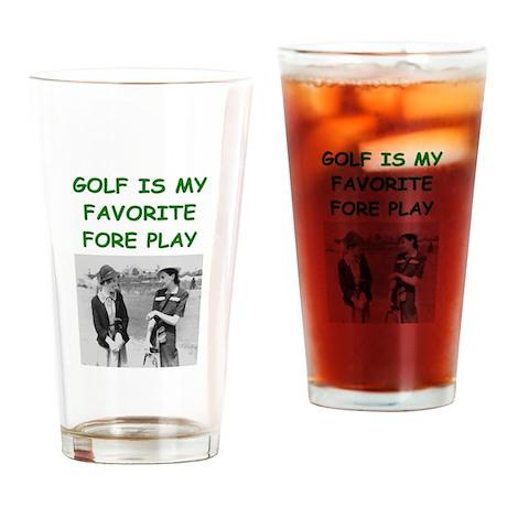 golf joke Pint Glass