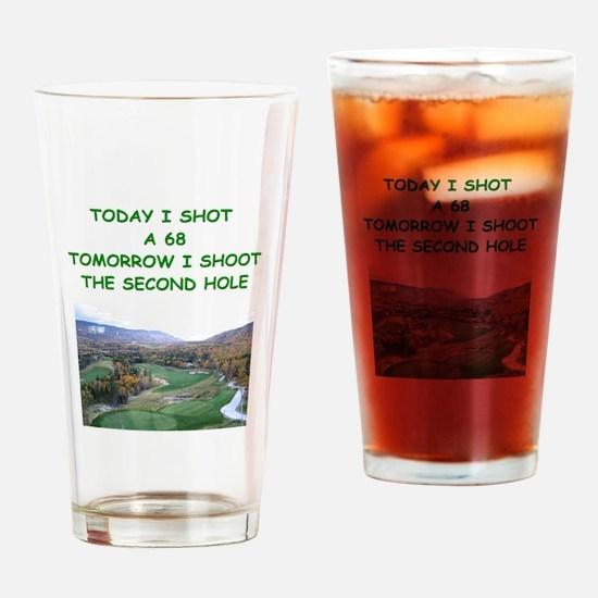 golf humor calendar Pint Glass