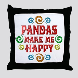 Panda Happiness Throw Pillow