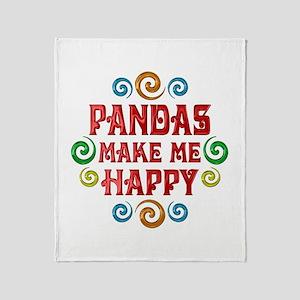 Panda Happiness Throw Blanket