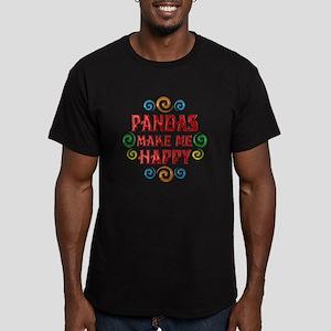 Panda Happiness Men's Fitted T-Shirt (dark)