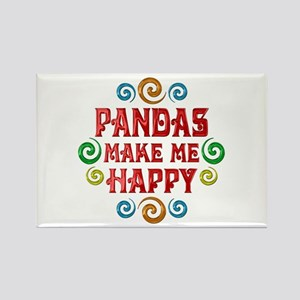 Panda Happiness Rectangle Magnet