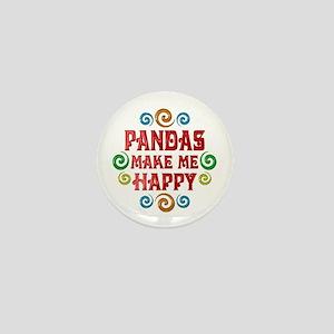 Panda Happiness Mini Button