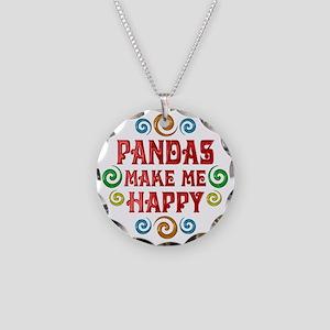 Panda Happiness Necklace Circle Charm