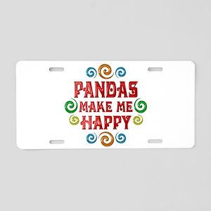 Panda Happiness Aluminum License Plate