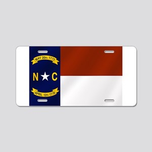 North Carolina State Flag Aluminum License Plate