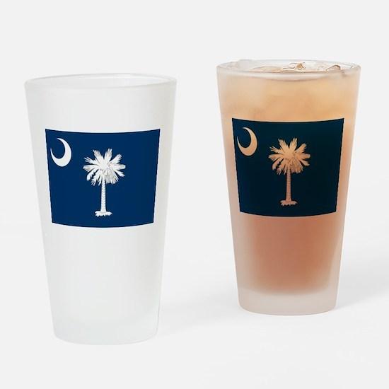 South Carolina Flag Drinking Glass