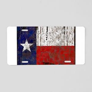 Texas Retro State Flag Aluminum License Plate