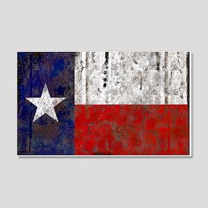Texas Retro State Flag 22x14 Wall Peel