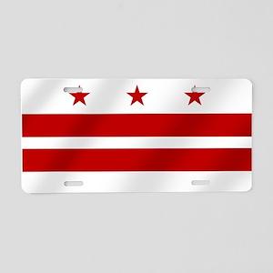 Washington DC Flag Aluminum License Plate