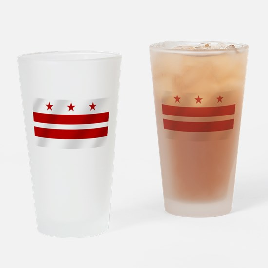 Washington DC Flag Drinking Glass