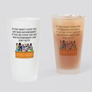 voter government jury duty Pint Glass
