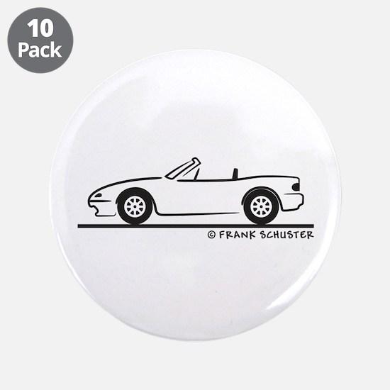"""Miata MX-5 3.5"""" Button (10 pack)"""