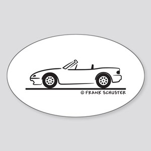 Miata MX-5 Sticker (Oval)