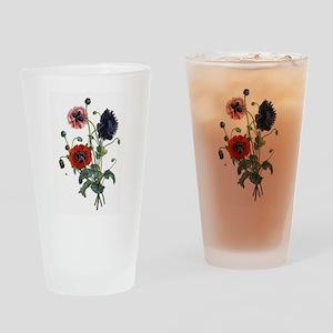 Poppy Art Pint Glass