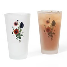 Poppy Art Pint Glass